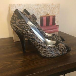 Jessica Simpson faux snakeskin/patten trim